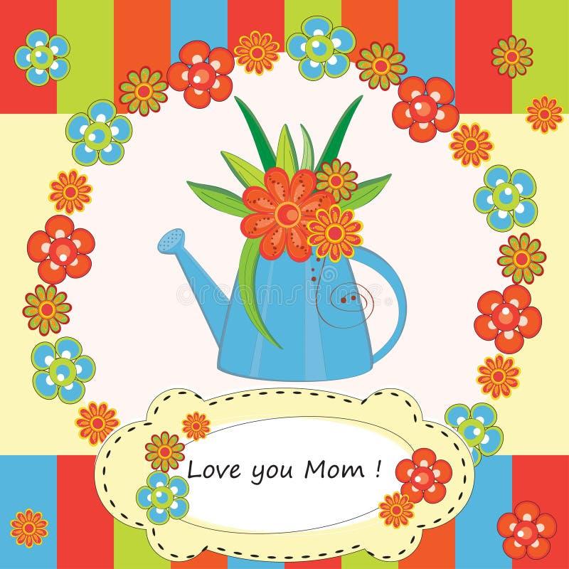 Cartão do dia da mãe ilustração do vetor