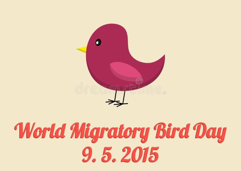 Cartão do dia das aves migratórias do mundo ilustração stock