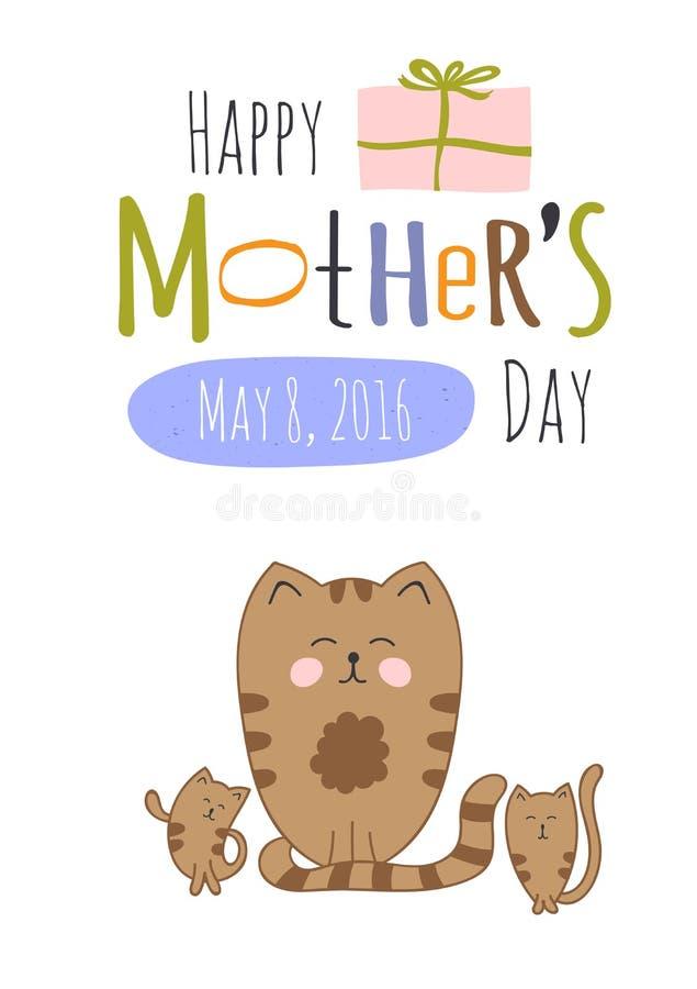 cartão do dia de mães ilustração royalty free