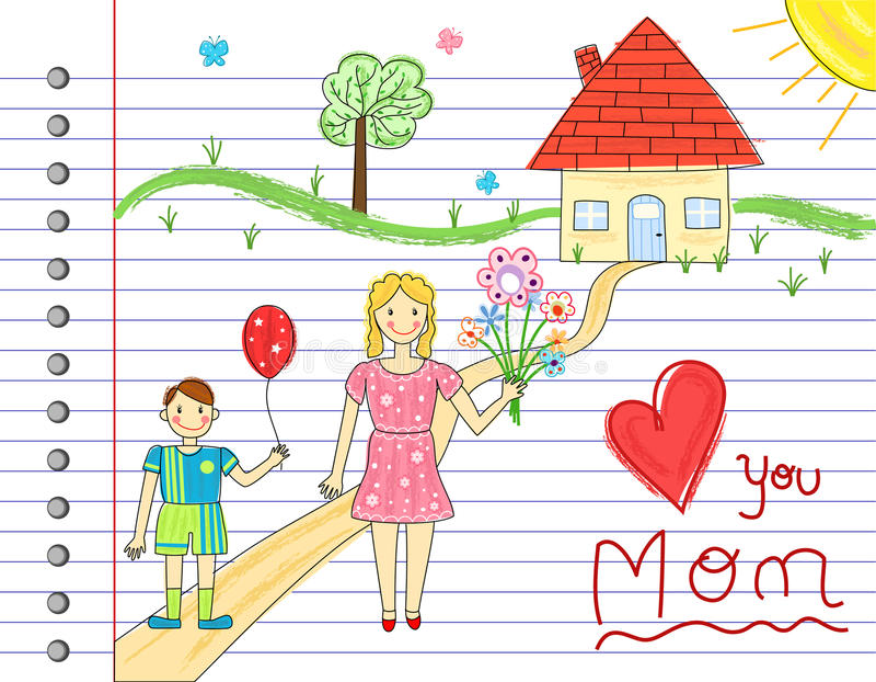Cartão do dia de matriz ilustração royalty free
