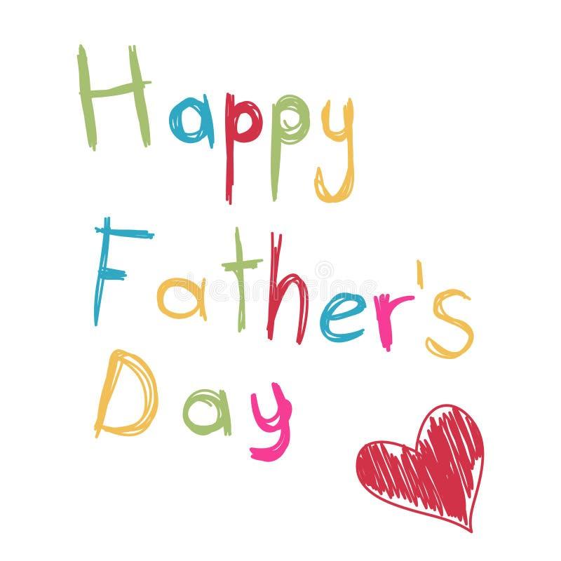Cartão do dia de pai ilustração royalty free