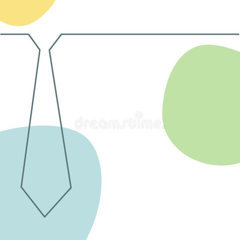 Cartão do dia de pai ilustração stock