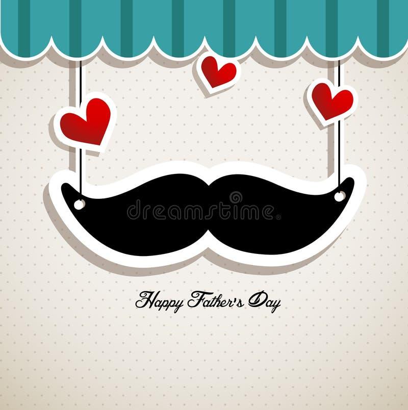 Cartão do dia de pai ilustração do vetor