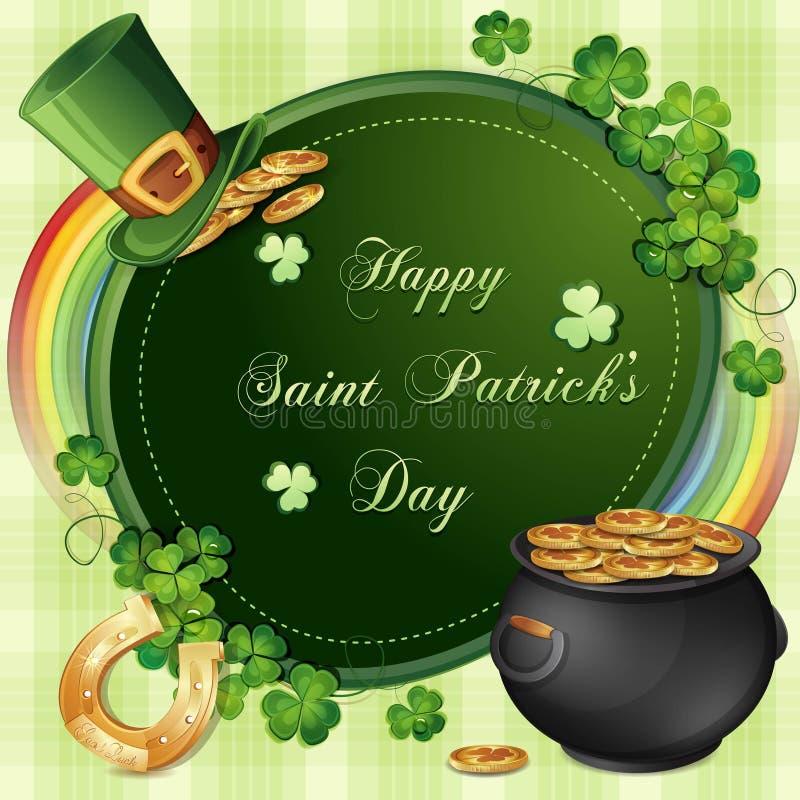 Download Cartão Do Dia De Patrick De Saint Ilustração Stock - Ilustração de verde, moedas: 29829174