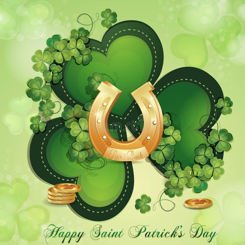 Download Cartão Do Dia De Patrick De Saint Ilustração Stock - Ilustração de símbolo, chapéu: 29829145