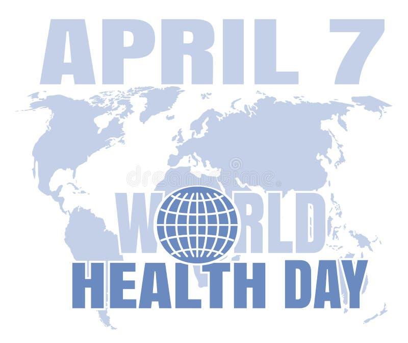 Cartão do dia de saúde de mundo 7 de abril ilustração stock