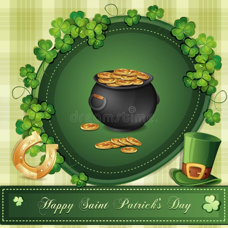 Download Cartão Do Dia De St Patrick Ilustração Stock - Ilustração de patrick, religioso: 29829132
