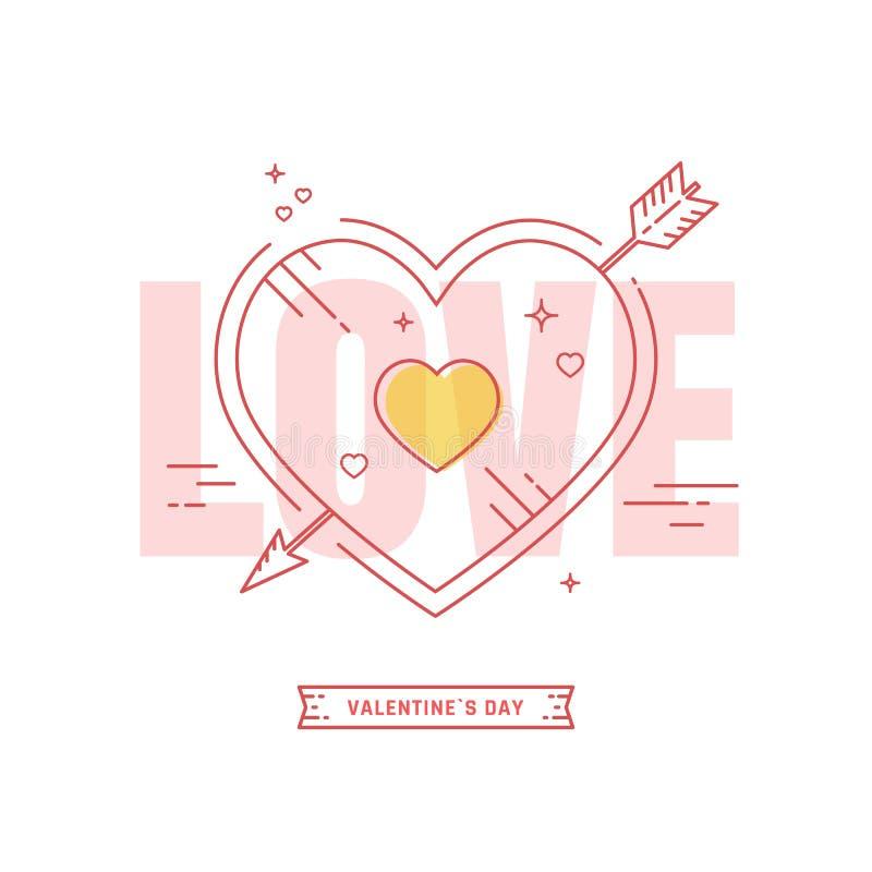 Download Cartão do dia de Valentim ilustração do vetor. Ilustração de elemento - 65576414