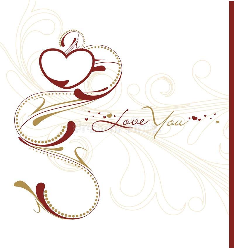 Download Cartão do dia do Valentim ilustração do vetor. Ilustração de bonito - 12803834