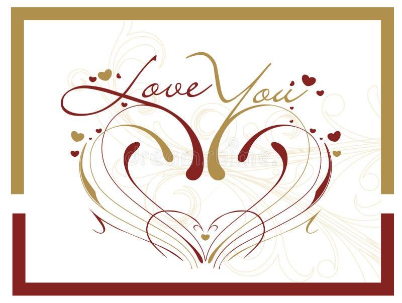 Download Cartão do dia do Valentim ilustração do vetor. Ilustração de magenta - 12804037