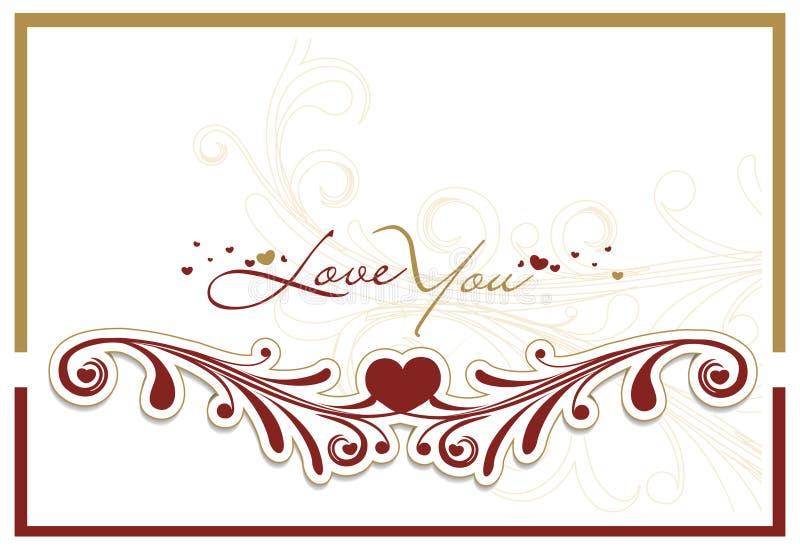 Download Cartão do dia do Valentim ilustração do vetor. Ilustração de cor - 12804052