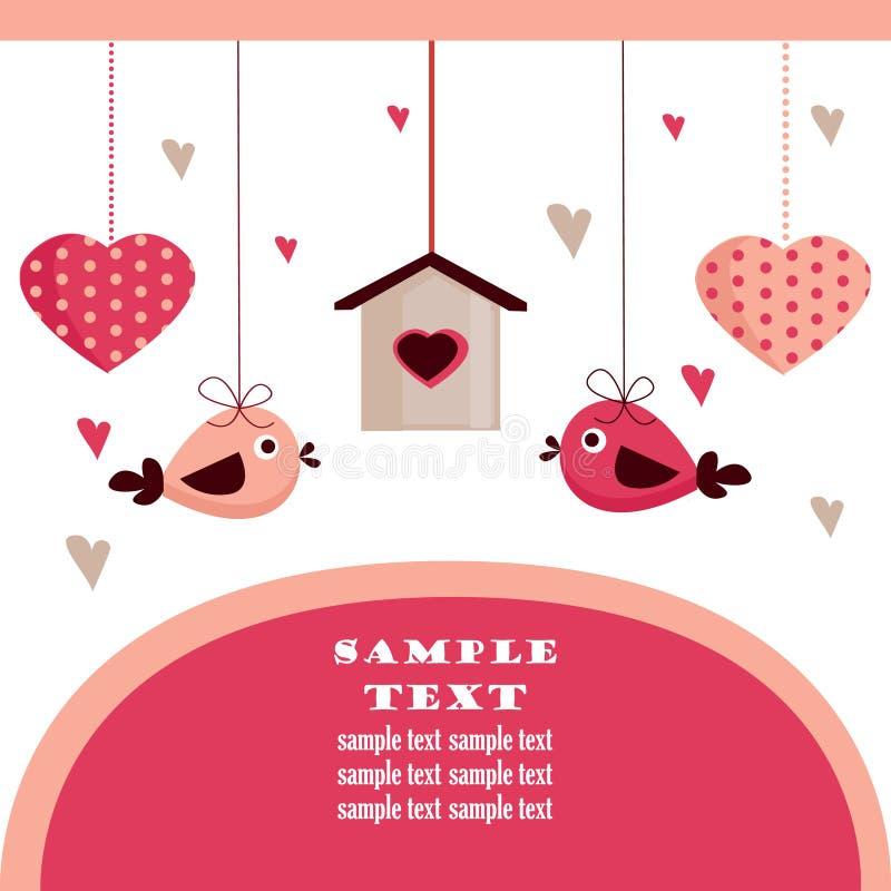 Cartão do dia do Valentim com lugar para seu texto, ilustração royalty free
