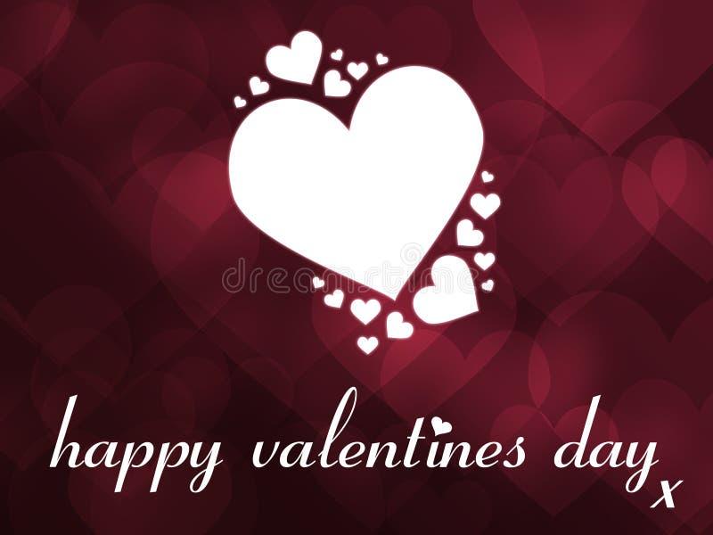 Cartão do dia do Valentim feliz ilustração stock