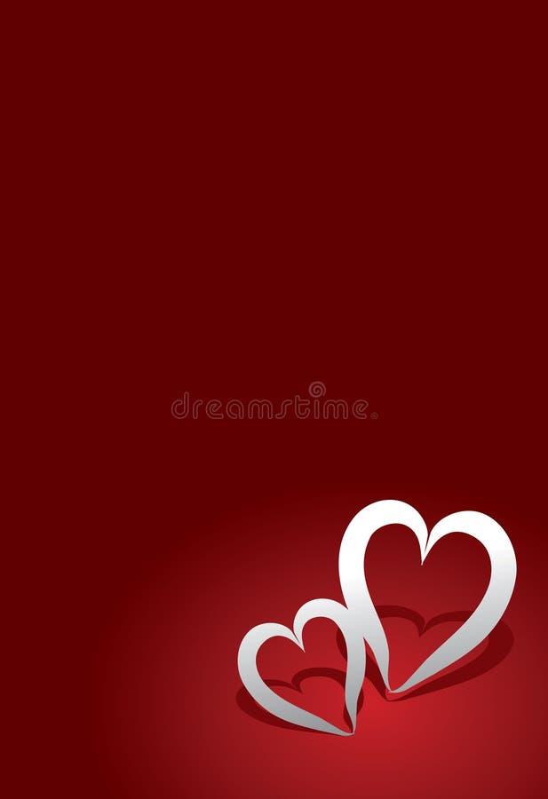 Cartão do dia dos Valentim ilustração stock