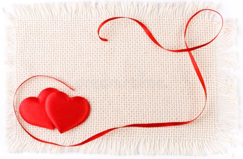 Cartão do dia dos Valentim. fotos de stock royalty free