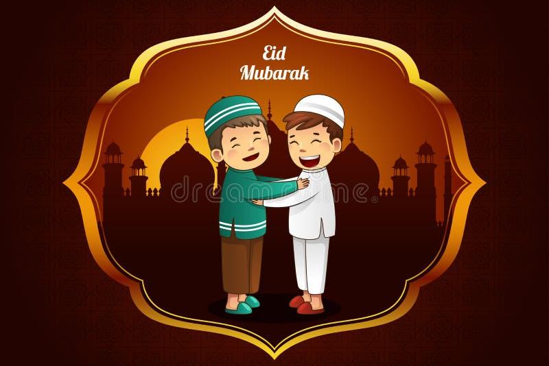 Cartão do Eid-Al-fitr ilustração stock