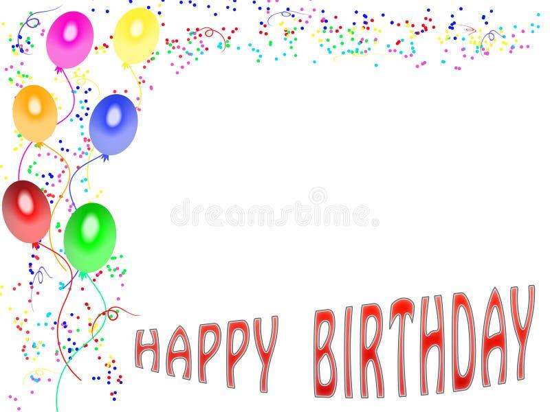 Cartão do feliz aniversario (01) ilustração do vetor