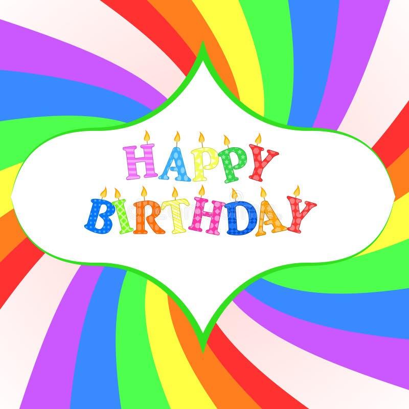 Cartão do feliz aniversario ilustração royalty free