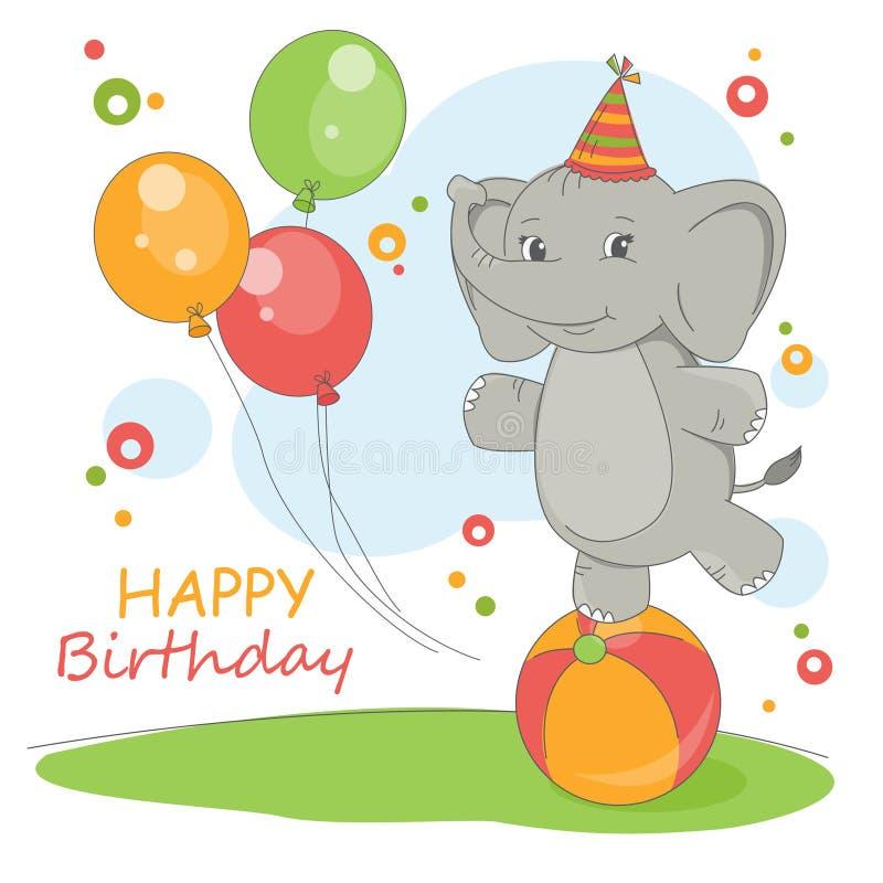 Cartão do feliz aniversario. ilustração stock