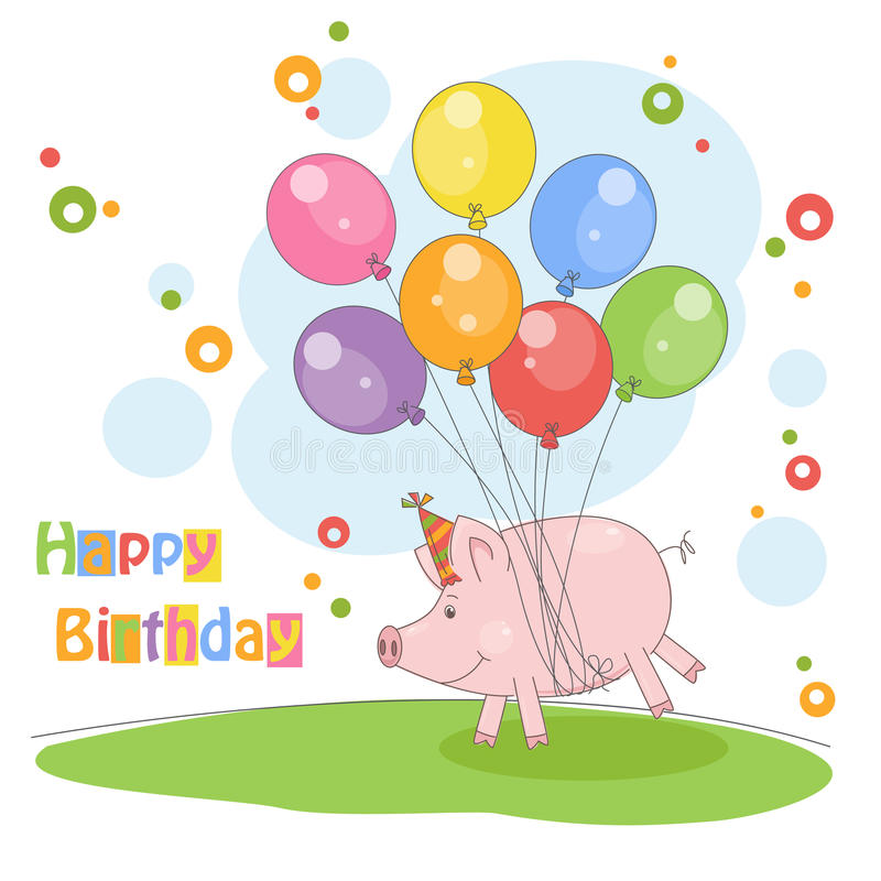 Cartão do feliz aniversario. ilustração royalty free