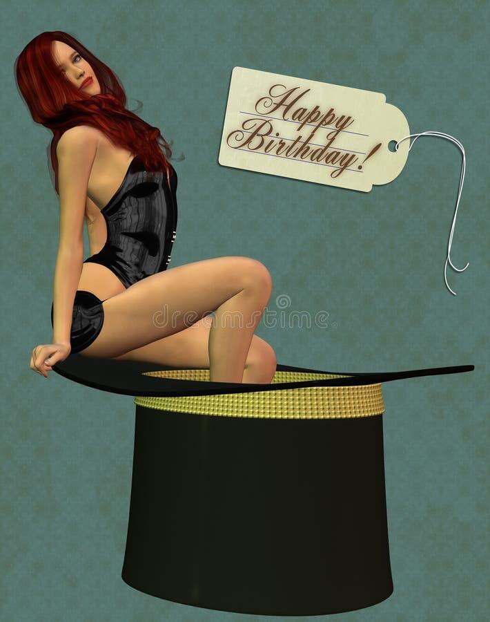 Cartão do feliz aniversario foto de stock royalty free