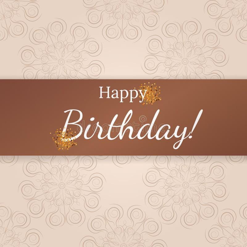 Cartão do feliz aniversario Teste padrão bonito fotos de stock
