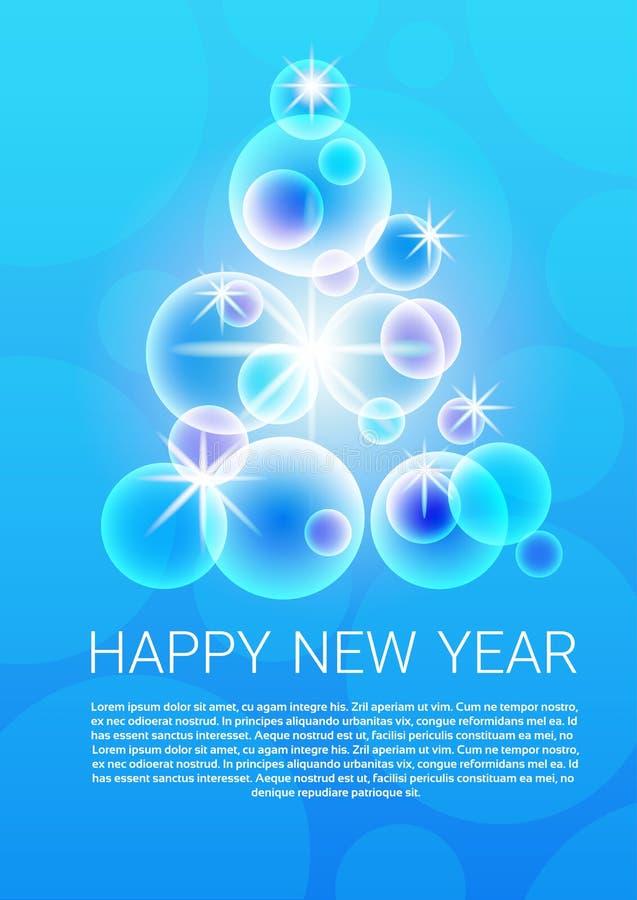 Cartão 2017 do Feliz Natal da bandeira do ano novo feliz ilustração royalty free