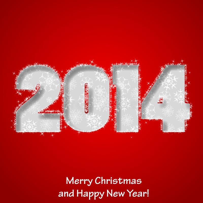 Cartão do Feliz Natal moderno e do ano novo feliz ilustração stock