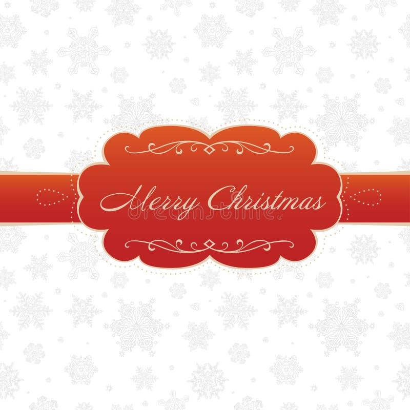 Cartão do Feliz Natal no fundo branco ilustração royalty free