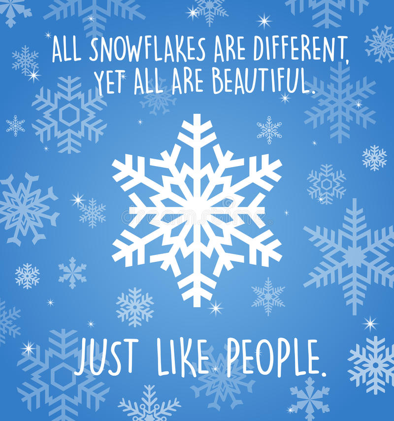 Cartão do feriado com os flocos de neve no azul ilustração royalty free