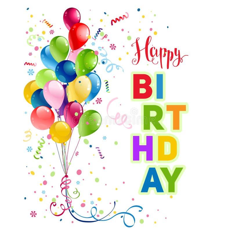 Cartão do feriado do feliz aniversario ilustração royalty free