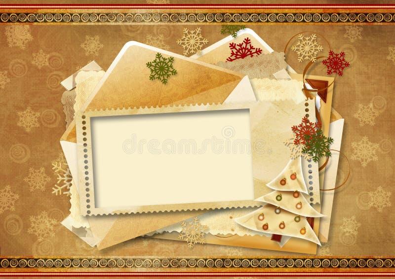 Cartão do feriado do vintage ilustração do vetor