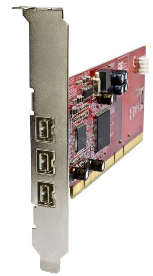 Cartão do firewire 800 para computadores de server imagens de stock