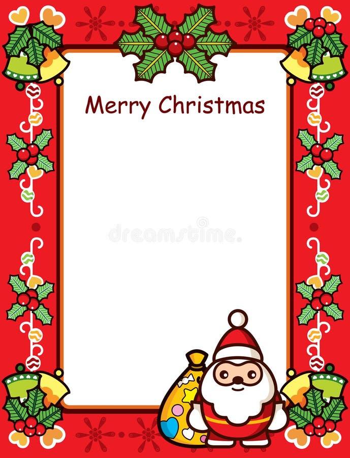 Cartão do frame do Natal ilustração royalty free