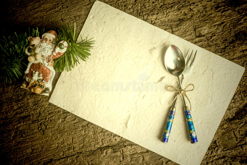 Cartão do fundo do menu do Natal imagem de stock
