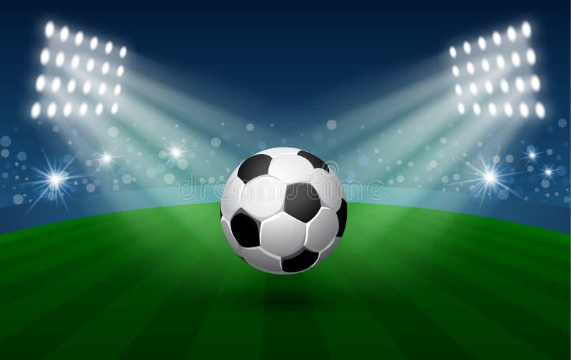 Cartão do futebol ilustração stock
