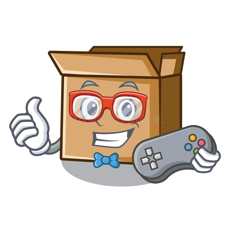 Cart?o do Gamer isolado com na mascote ilustração do vetor