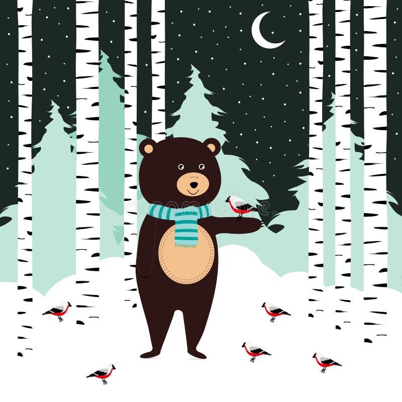 Cartão do inverno ilustração stock