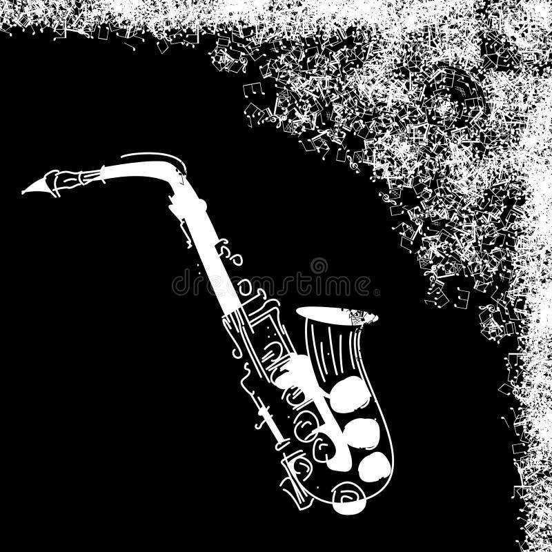 Cartão do jazz de Grunge ilustração royalty free