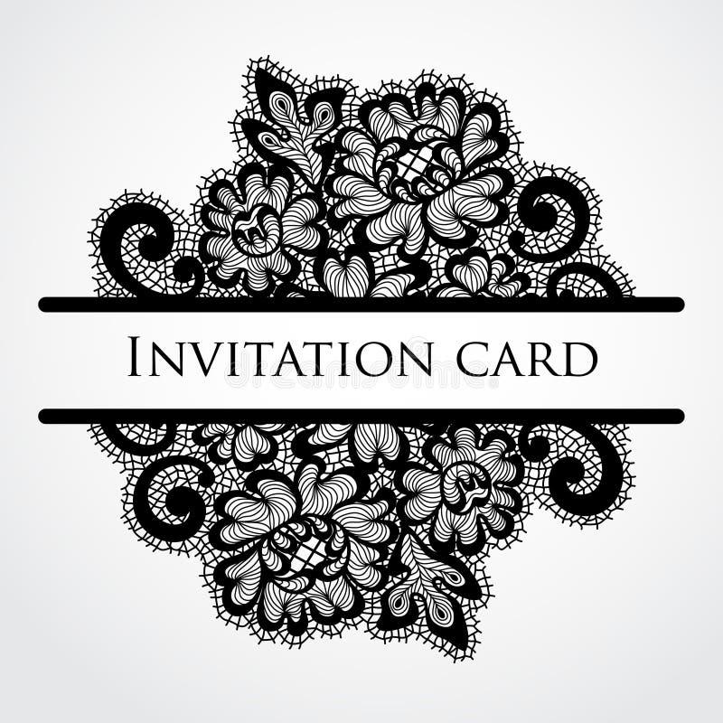 Cartão do laço do vetor ilustração do vetor