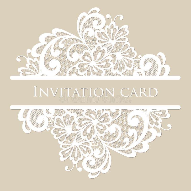 Cartão do laço do vetor ilustração royalty free