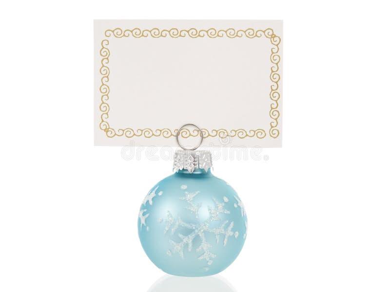 Cartão do lugar do Natal imagens de stock