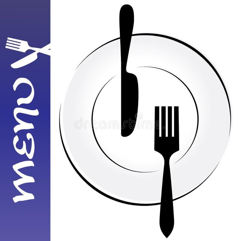 Cartão do menu ilustração do vetor