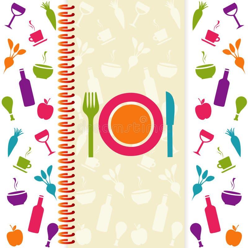 Cartão do menu ou do restaurante ilustração do vetor