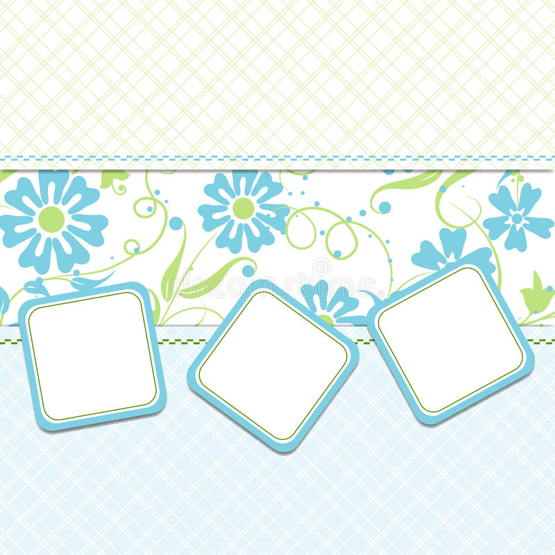Cartão do molde,   ilustração stock