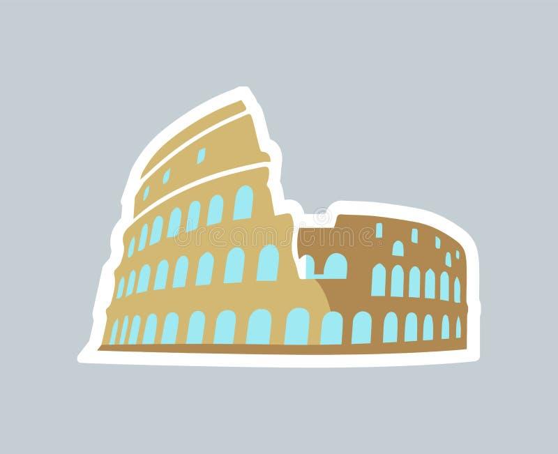 Cartão do molde de Rom Coliseum Vetora Illustration ilustração do vetor