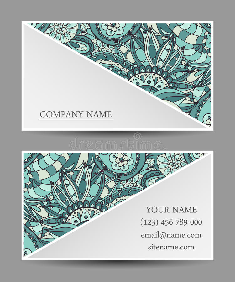 Cartão do molde do vetor ilustração royalty free