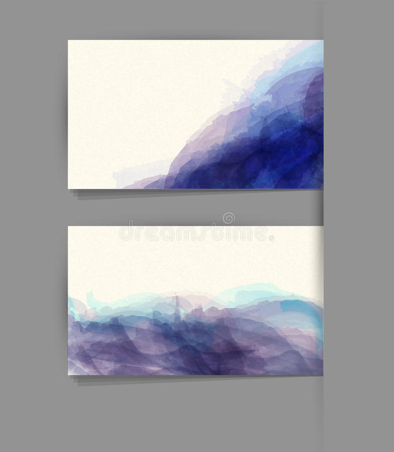Cartão do molde do vetor com uma imitação da aquarela ilustração royalty free