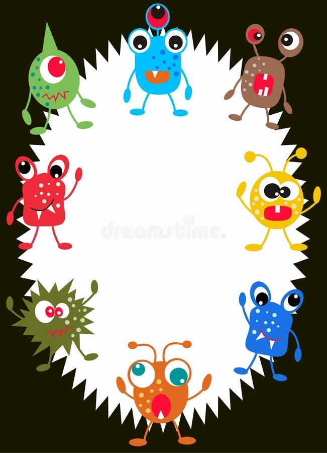 Cartão do monstro ilustração royalty free