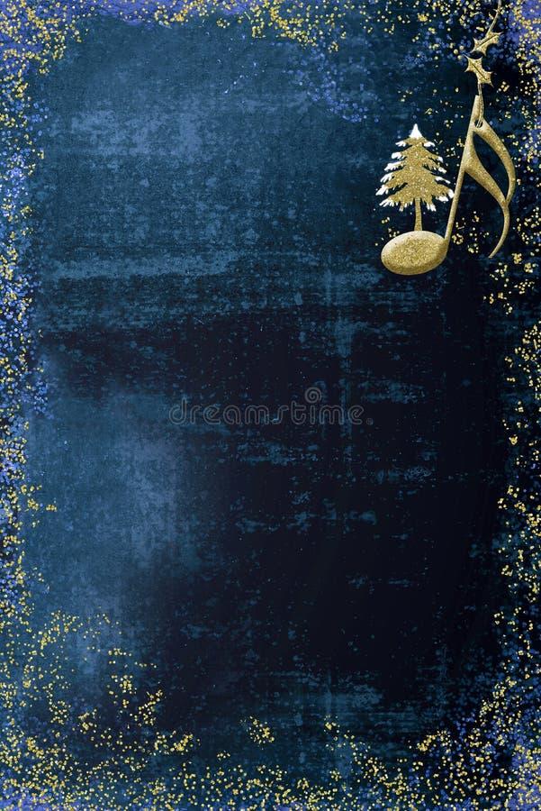Cartão do musical do Natal ilustração stock